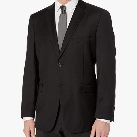 Adolfo Black Comfort Stretch Suit Jacket